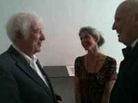 Seamus Heaney, Wendy Artin, Andrew Hoyem (photo by Diana Ketcham)