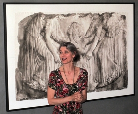 Wendy Artin answering questions in front of Aphrodite Rising
