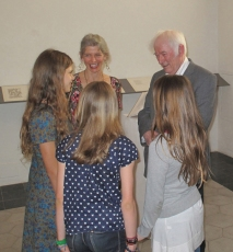 Seamus Heaney is presented to a group of aspiring poets