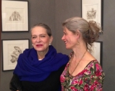 Wendy Artin and Adele Chatfield-Taylor at the exhibition