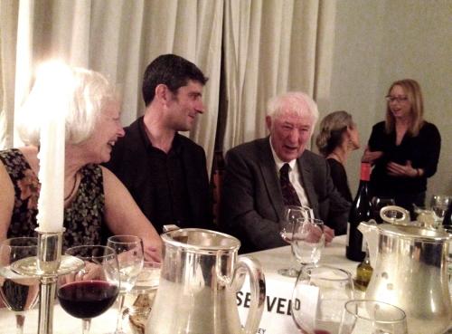 Jean Artin, Bruno Boschin, Seamus Heaney and Wendy Artin at the elegant American Academy dinner