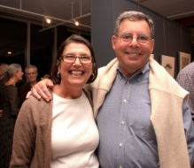 Jean and Mark Patiky at opening of Stone From Delphi