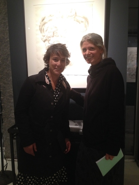 Wendy Artin with bicycle painter Taliah Lempert, whose paintings can be seen at bicycle paintings.com