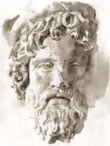 This is the beautiful and haunting face of Asclepius, who represents healing and hope.