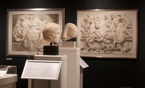 4. Wendy Artin Rocks, Paper, Memory Exhibit Head Augustus