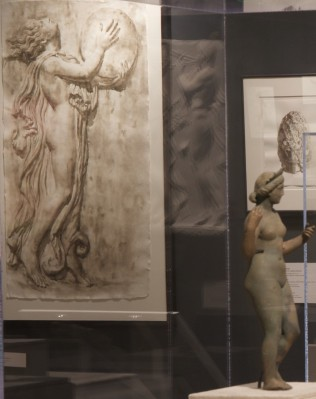 3. Wendy Artin: Rocks, Paper, Memory exhibit, Drummer and Aphrodite figurine