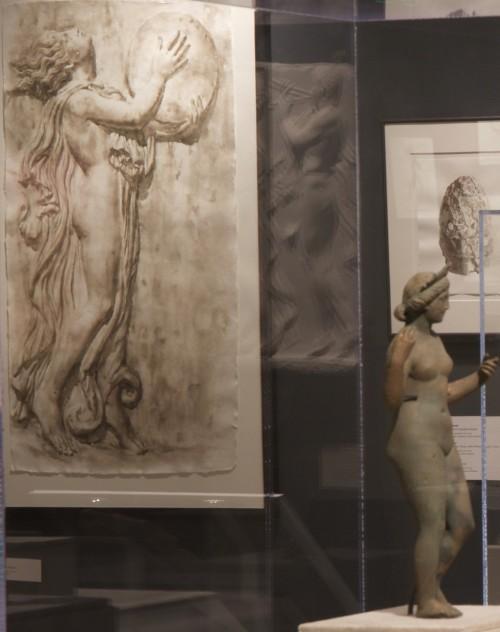 3. Wendy Artin: Rocks, Paper, Memory exhibit, Drummer and Aphrodite figurine