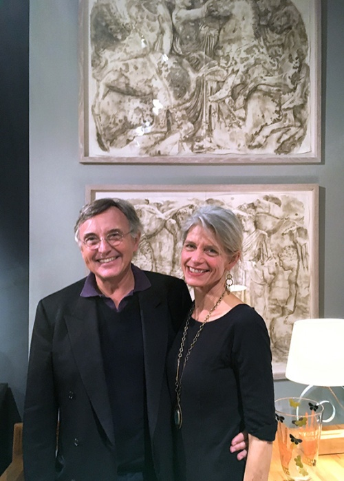 Pierre Passebon and Wendy Artin, PAD Fair London