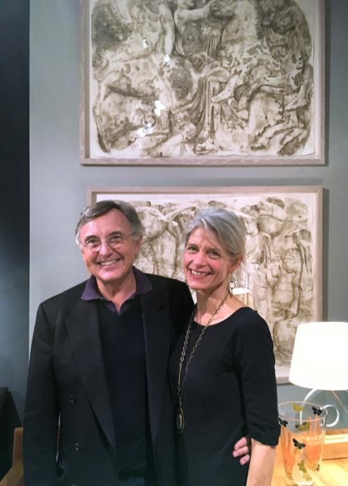 Pierre Passebon and Wendy Artin, PAD Fair London