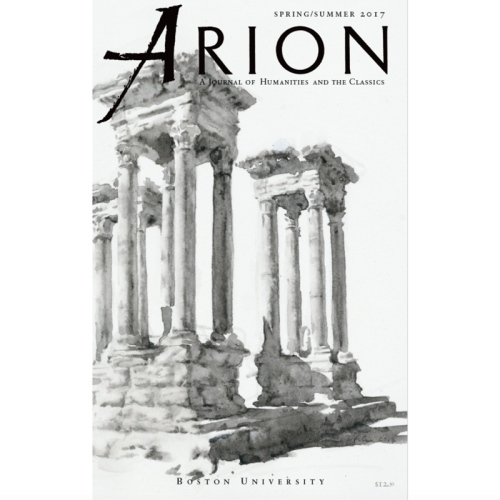 Wendy Artin, Palmyra, Arion Journal of Humanities and the Classics, Boston University, Spring/Summer 2017