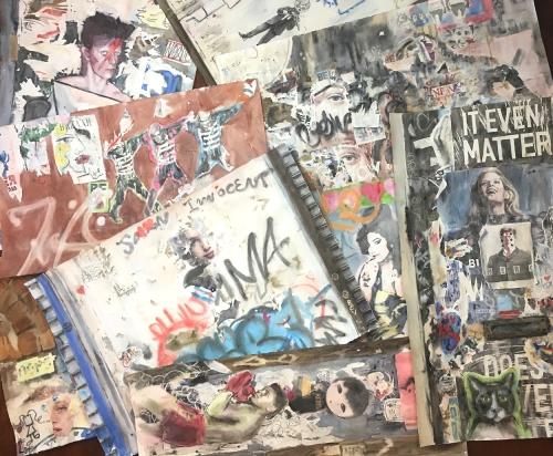 Wendy Artin, Big Pile of Wall Paintings, June 2017