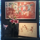 Wendy Artin, NYC, Brooklyn Bazaar and 3 Sanguine Figures