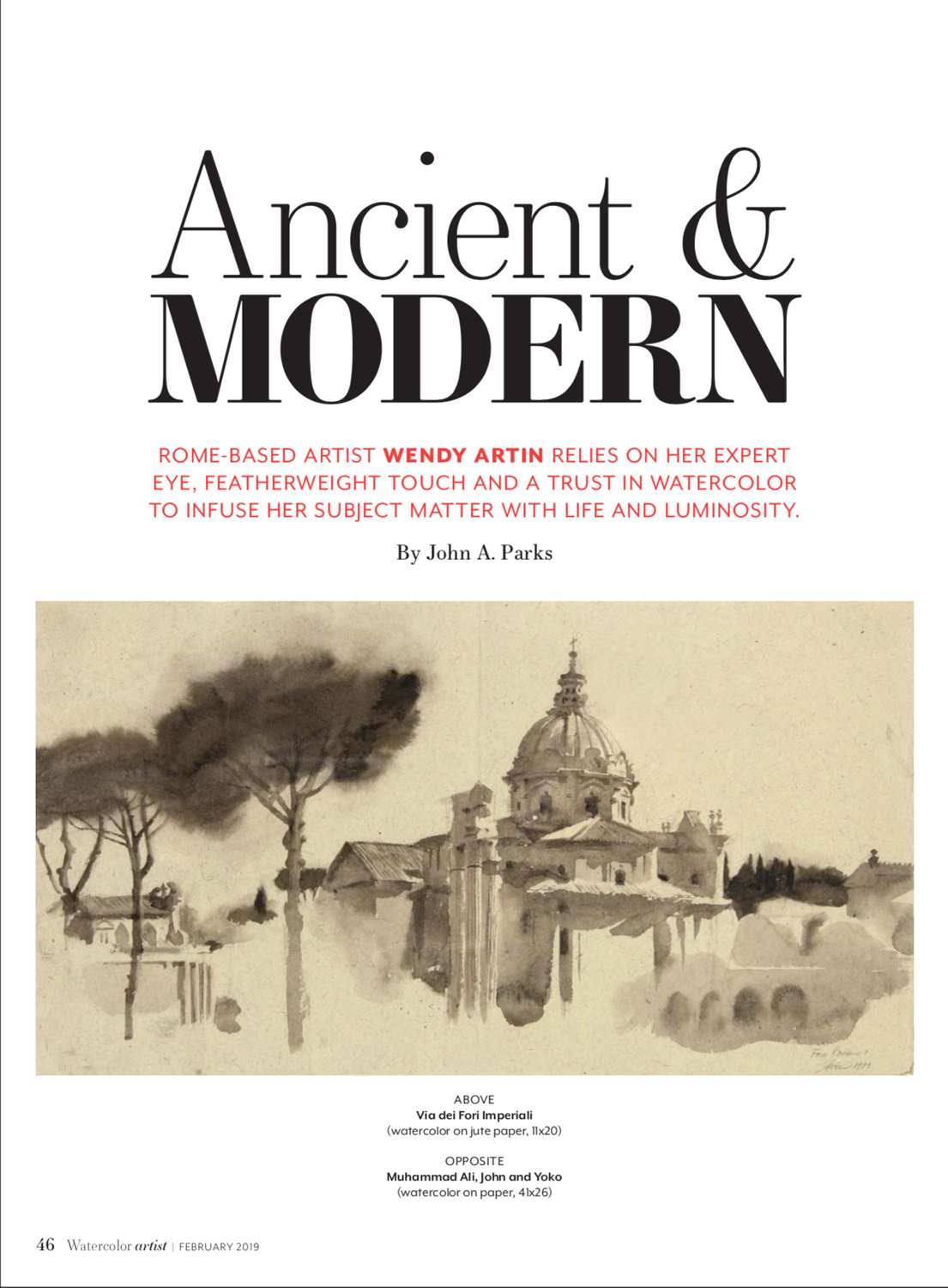 Ancient & Modern article by John A. Parks, Watercolor Artist ...
